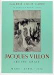 Jacques Villon: Galerie Louis Carré, 1954