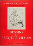 Jacques Villon: Galerie Louis Carré, 1956